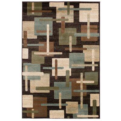 Crawford Brown/Green Area Rug Rug Size: 5 x 76
