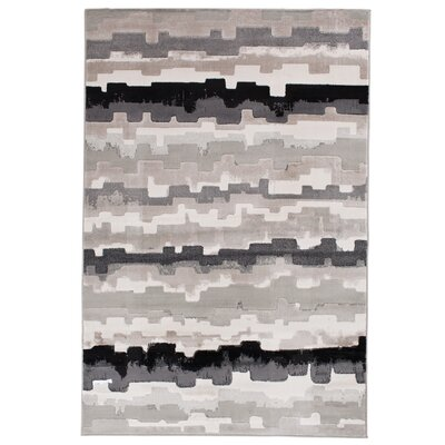 Norton Ebony Area Rug Rug Size: Rectangle 710 x 910