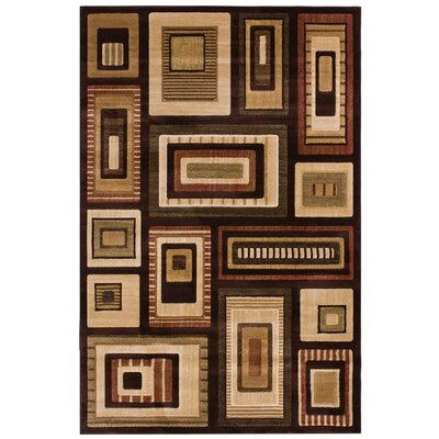Clarkson Brown/Red Area Rug Rug Size: 710 x 910
