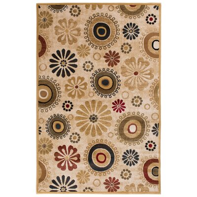 Clarkson Hand-Woven Beige/Wheat Area Rug Rug Size: 710 x 910