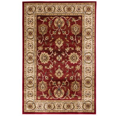 Clarkson Crimson/Wheat Area Rug Rug Size: 710 x 910