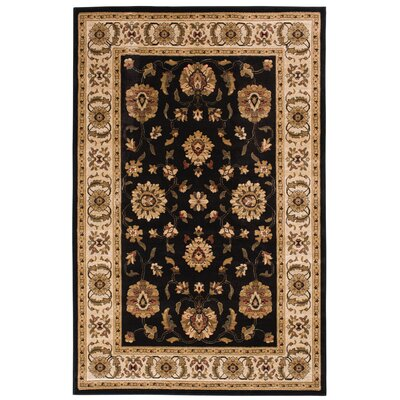 Clarkson Black/Wheat Area Rug Rug Size: 710 x 910