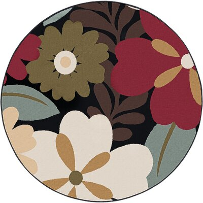 Strope Brown Area Rug Rug Size: Round 53