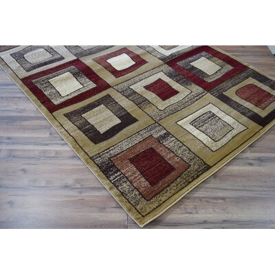 Allston Brown/Organe Area Rug Rug Size: Rectangle 53 x 710