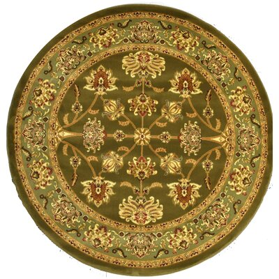 Gloucester Green Area Rug Rug Size: Round 53