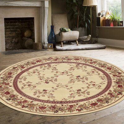 Westminster Ivory Area Rug Rug Size: Round 8