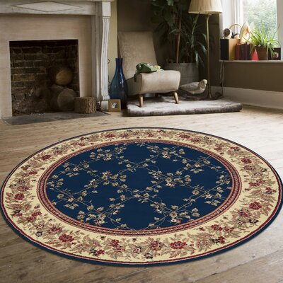 Westminster Navy Area Rug Rug Size: Round 8