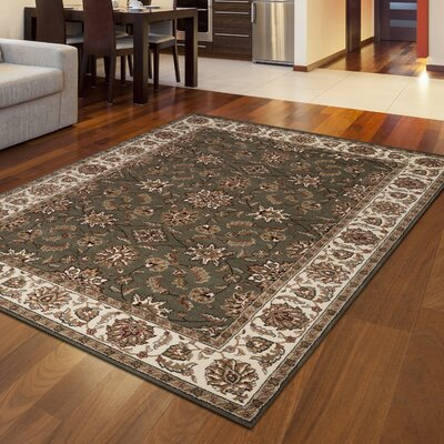 Colebrook Sage/Beige Area Rug Rug Size: Rectangle 55 x 77