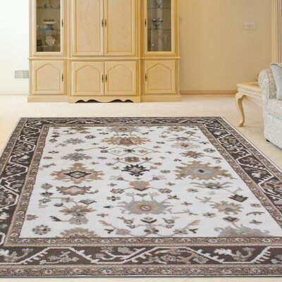 Avery Bone Area Rug Rug Size: Rectangle 53 x 73
