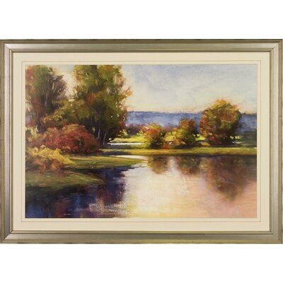 Lake View By Amanda Houston Framed Painting Print