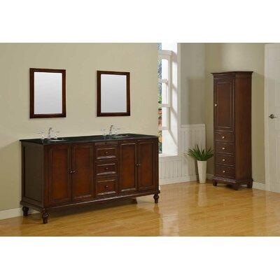 Classic 70 Double Bathroom Vanity Set Top Finish: Black Granite
