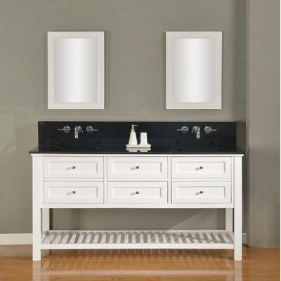 Mission Spa Premium 70 Double Vanity Set Top Finish: Black Granite