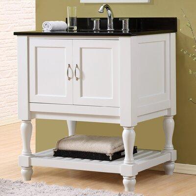 Mission Turnleg Spa 32 Single Bathroom Vanity Set Top Finish: Black Granite