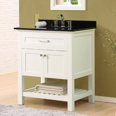 Ferdinand 32 Single Bathroom Vanity Set Top Finish: Black Granite