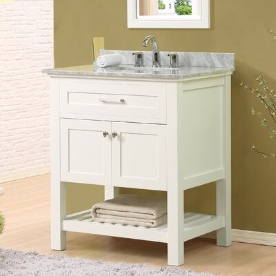 Ferdinand 32 Single Bathroom Vanity Set Top Finish: White Carrara Marble