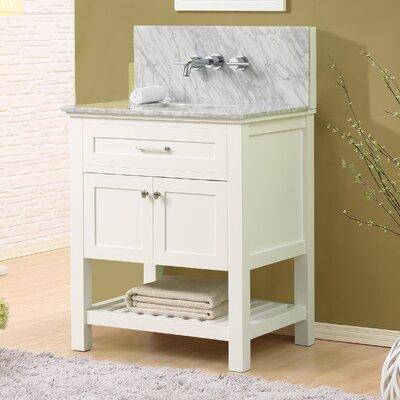 Ferdinand Modern 32 Single Bathroom Vanity Set Top Finish: White Carrara Marble