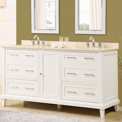 Fairlee 70 Double Bathroom Vanity Set Top Finish: Beige Marble Top