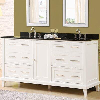 Fairlee 70 Double Bathroom Vanity Set Top Finish: Black Granite