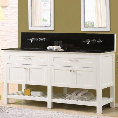 Fairfield 70 Double Bathroom Vanity Set Top Finish: Black Granite