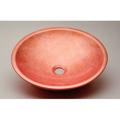 Circular Vessel Bathroom Sink Sink Finish: Copper Leaf