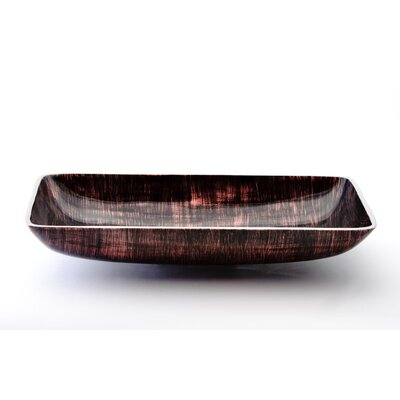 Nek Rectangular Vessel Bathroom Sink Sink Finish: Brown Black