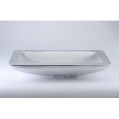 Vogue Rectangular Vessel Bathroom Sink Sink Finish: Silver Leaf