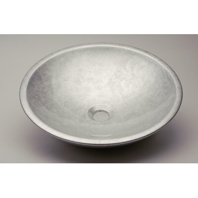 Circular Vessel Bathroom Sink Sink Finish: Silver Leaf