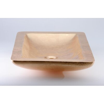 Vogue Rectangular Vessel Bathroom Sink Sink Finish: Gold Leaf