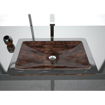 Vogue Rectangular Vessel Bathroom Sink Sink Finish: Brown Black
