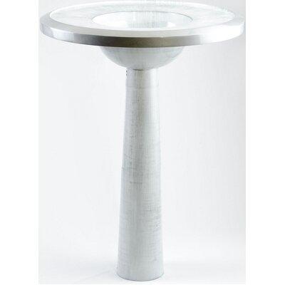 BJ Luxury Free Standing 34 Pedestal Bathroom Sink Sink Finish: White Silver