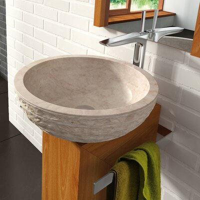 Puket Circular Vessel Bathroom Sink Sink Finish: Beige