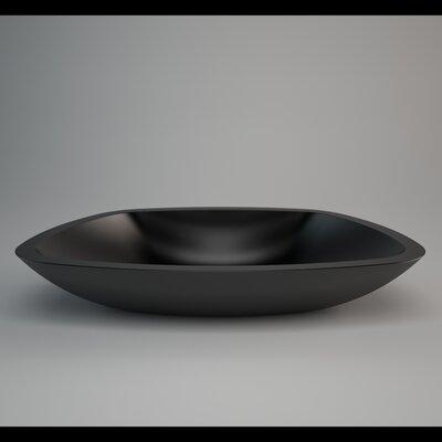 Az Out Unique Rectangular Vessel Bathroom Sink Sink Finish: Black Polish