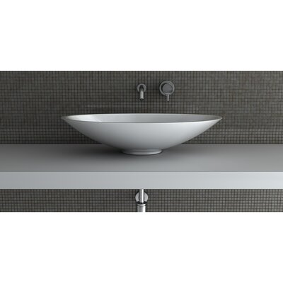 Mood Oval Vessel Bathroom Sink Sink Finish: White Polish
