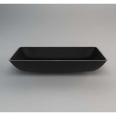 Nek Rectangular Vessel Bathroom Sink Sink Finish: Black