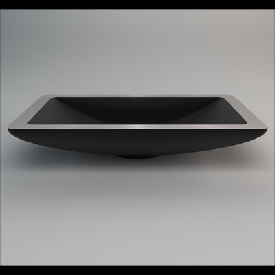 Vogue Rectangular Vessel Bathroom Sink Sink Finish: Black