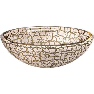 Atelier Kalahari Circular Vessel Bathroom Sink Sink Finish: Gold / White