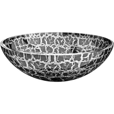 Atelier Kalahari Circular Vessel Bathroom Sink Sink Finish: Silver / Black