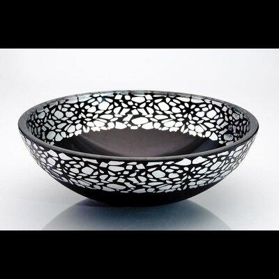 Atelier Flare Circular Vessel Bathroom Sink Sink Finish: Silver Black