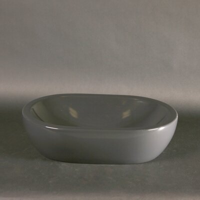Midas Oval Vessel Bathroom Sink Sink Finish: Anthracite Grey