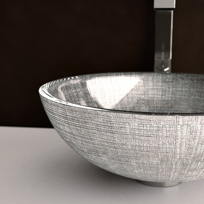 Atelier Venice Circular Vessel Bathroom Sink Sink Finish: Silver / Black