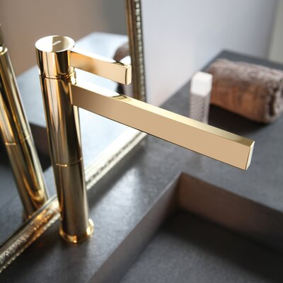 Caso Single Handle Single Hole Vessel Faucet Finish: Polished Gold