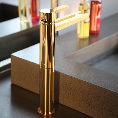 Single Hole Waterfall Faucet Finish: Polished Gold