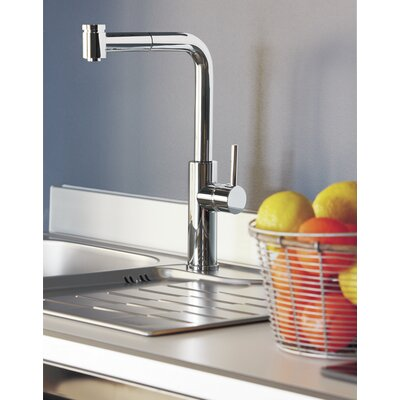 Milo Single Handle Deck Mounted Kitchen Faucet with Pull Out Dual Shower Finish: Brushed Nickel