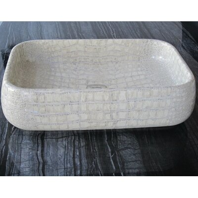 Moda Giungla Rectangular Vessel Bathroom Sink Sink Finish: Coco Vintage