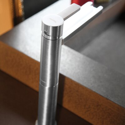 Single Hole Waterfall Faucet Finish: Brushed Chrome