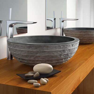 Puket Circular Vessel Bathroom Sink Sink Finish: Black