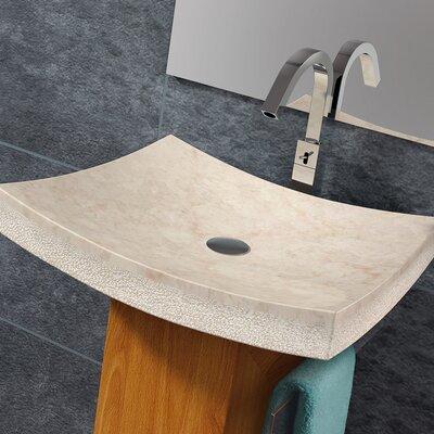 Arrecife Rectangular Vessel Bathroom Sink Sink Finish: Beige