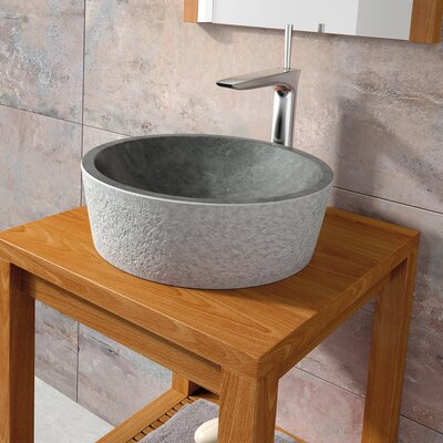 Dual Marble Specialty Vessel Bathroom Sink Sink Finish: Black