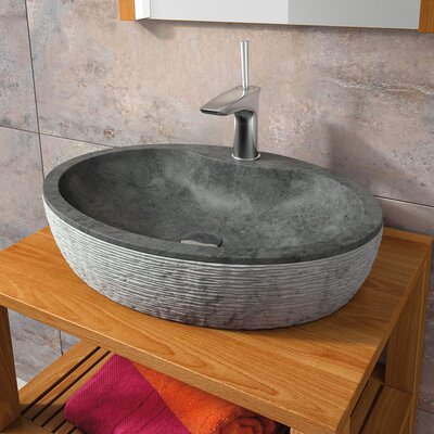 Santorini High End Oval Vessel Bathroom Sink Sink Finish: Black
