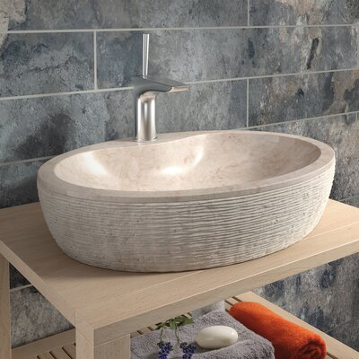 Santorini High End Oval Vessel Bathroom Sink Sink Finish: Beige